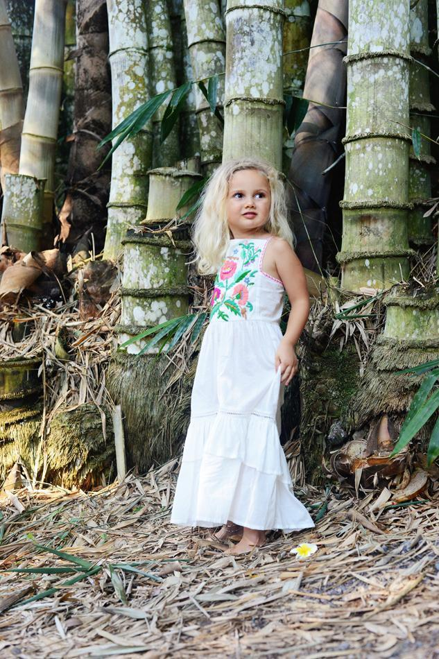 Coco & Ginger Lilac Dress Eggshell with Crocus - Tiny People Cool Kids Clothes Byron Bay