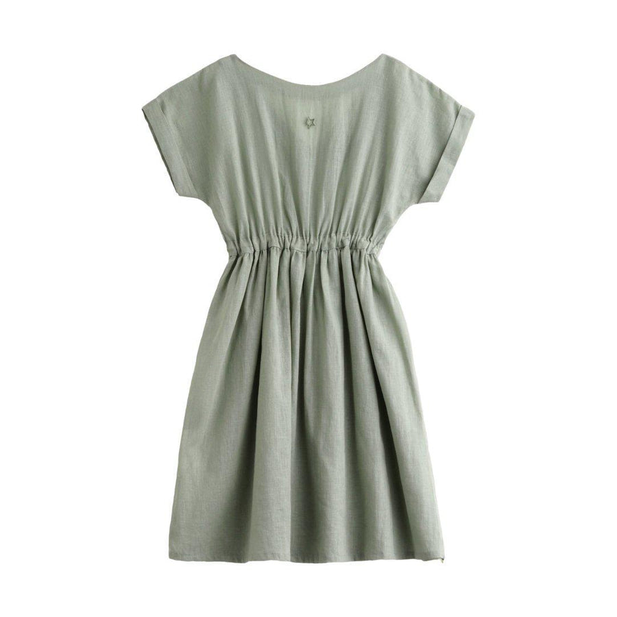 Cotton Linen Dress Green