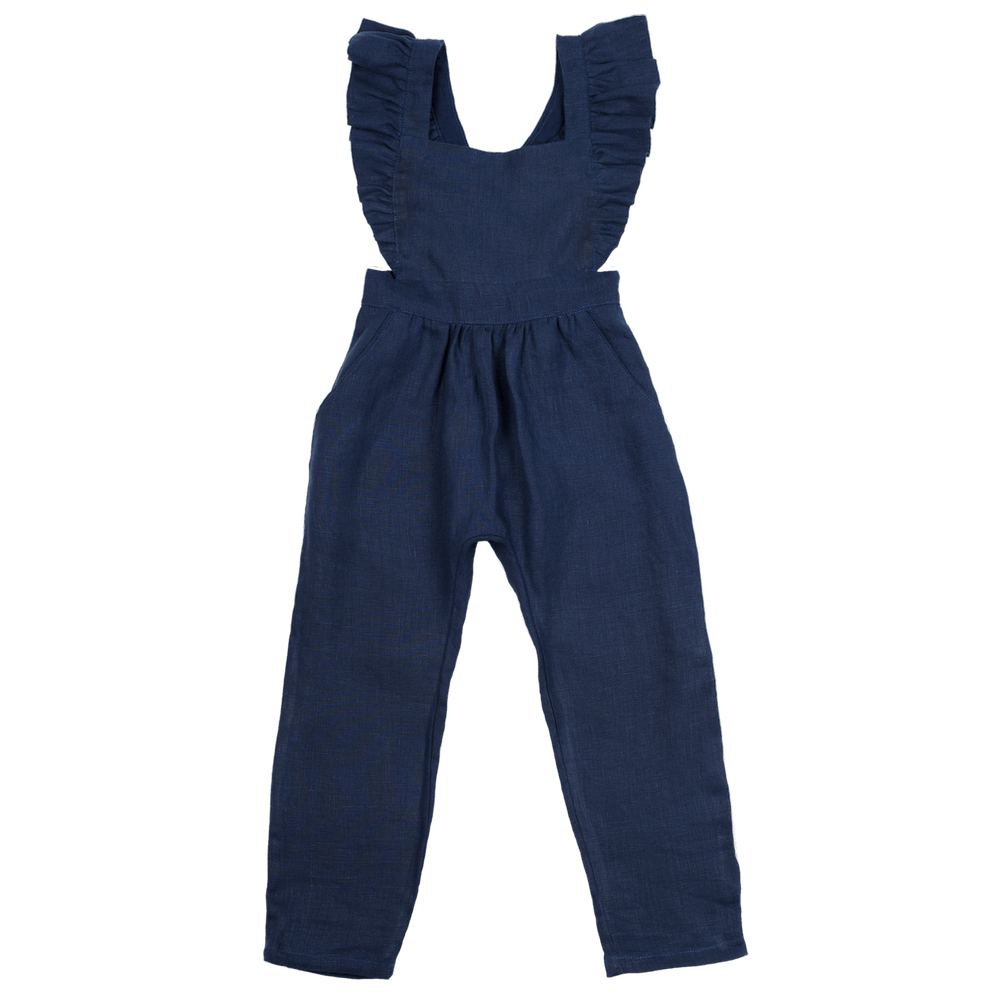 Fox & Horn Little Adventurer Overalls - Navy Blue - Tiny People Cool Kids Clothes Byron Bay