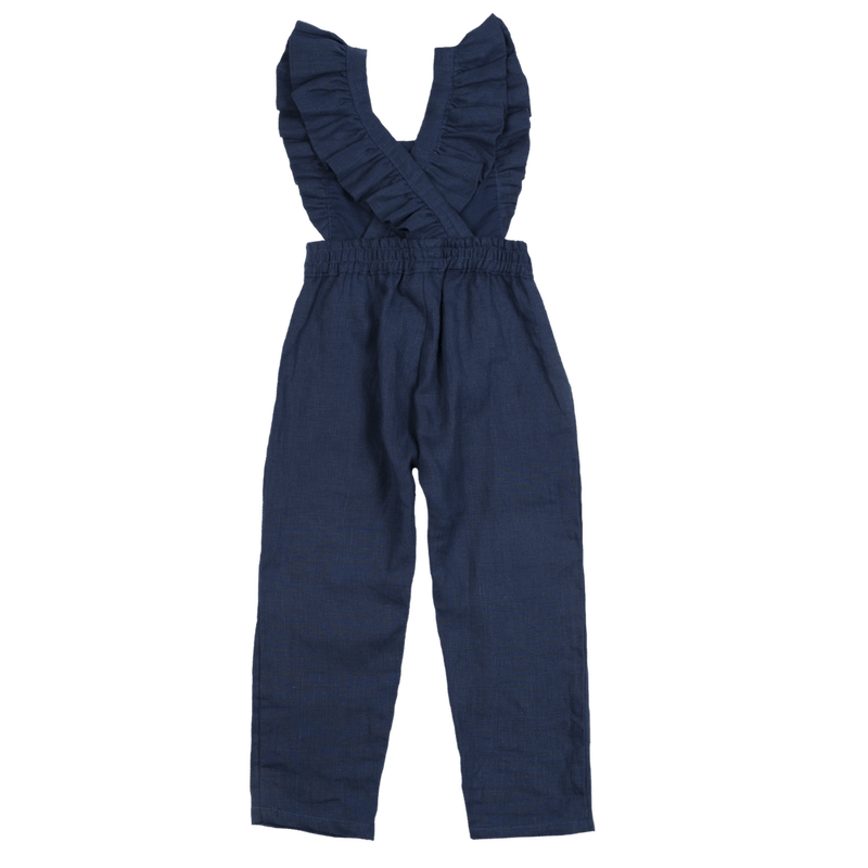 Fox & Horn Little Adventurer Overalls - Navy Blue Overalls - Tiny People Cool Kids Clothes