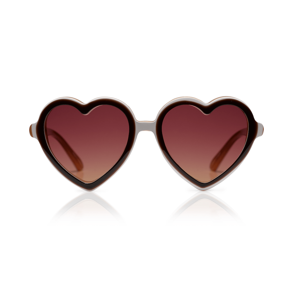 Sons + Daughters Eyewear Lola (Chocolate Layer) Sunglasses - Tiny People Cool Kids Clothes