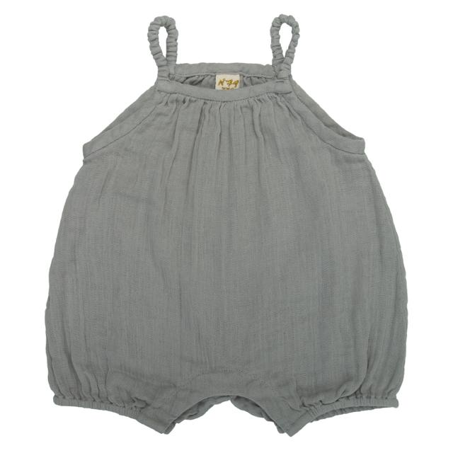 Numero 74 Lolita Baby Romper Silver Grey - Tiny People Cool Kids Clothes Byron Bay