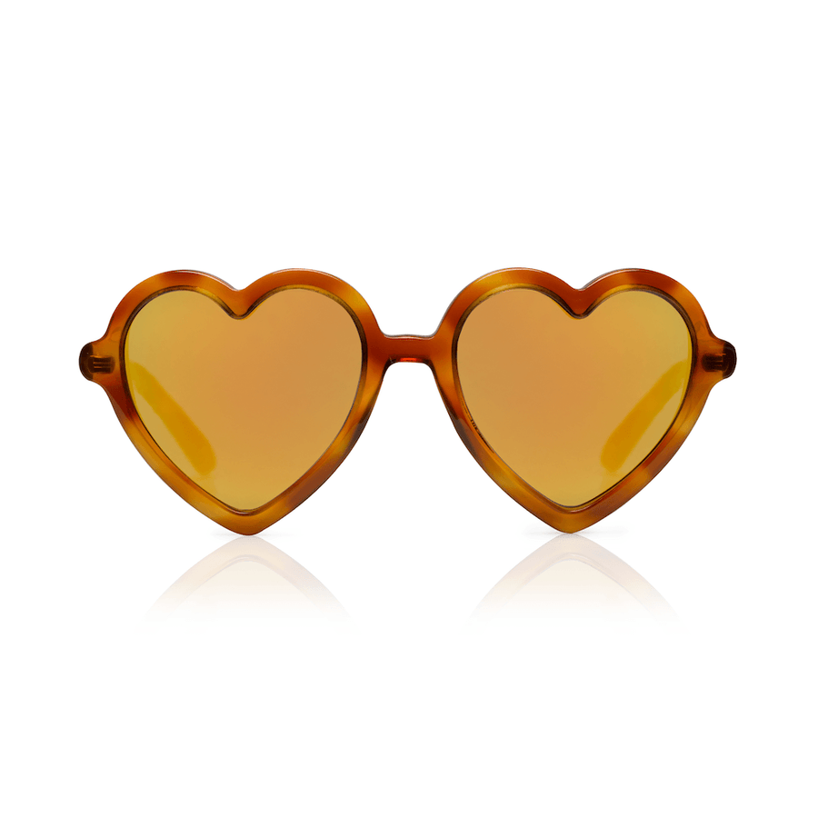 Sons + Daughters Lola heart sunglasses in Creme Brulee at Tiny People Shop Australia.
