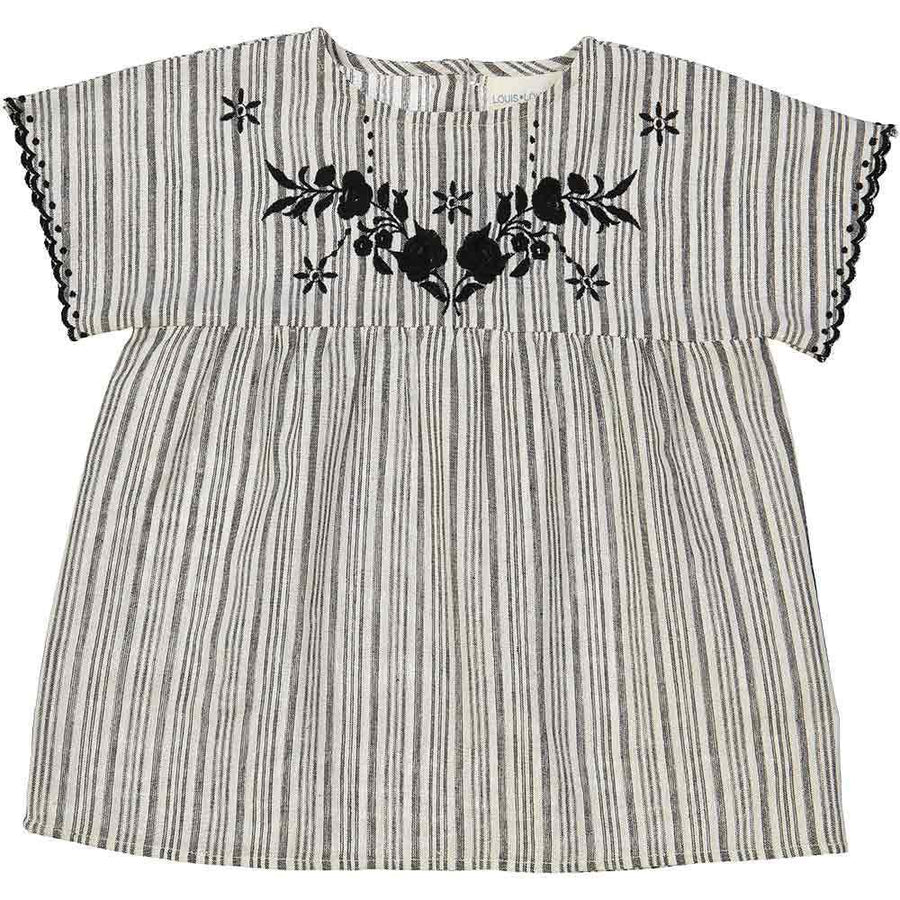 Louis Louise Reglisse Tunic Black White Stripes - Tiny People Cool Kids Clothes Byron Bay