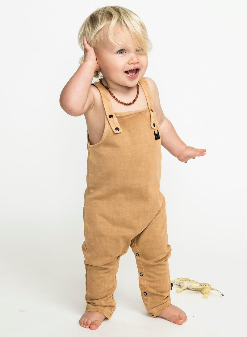 Mini Munster Zephyr Overalls Washed Mustard | Tiny People