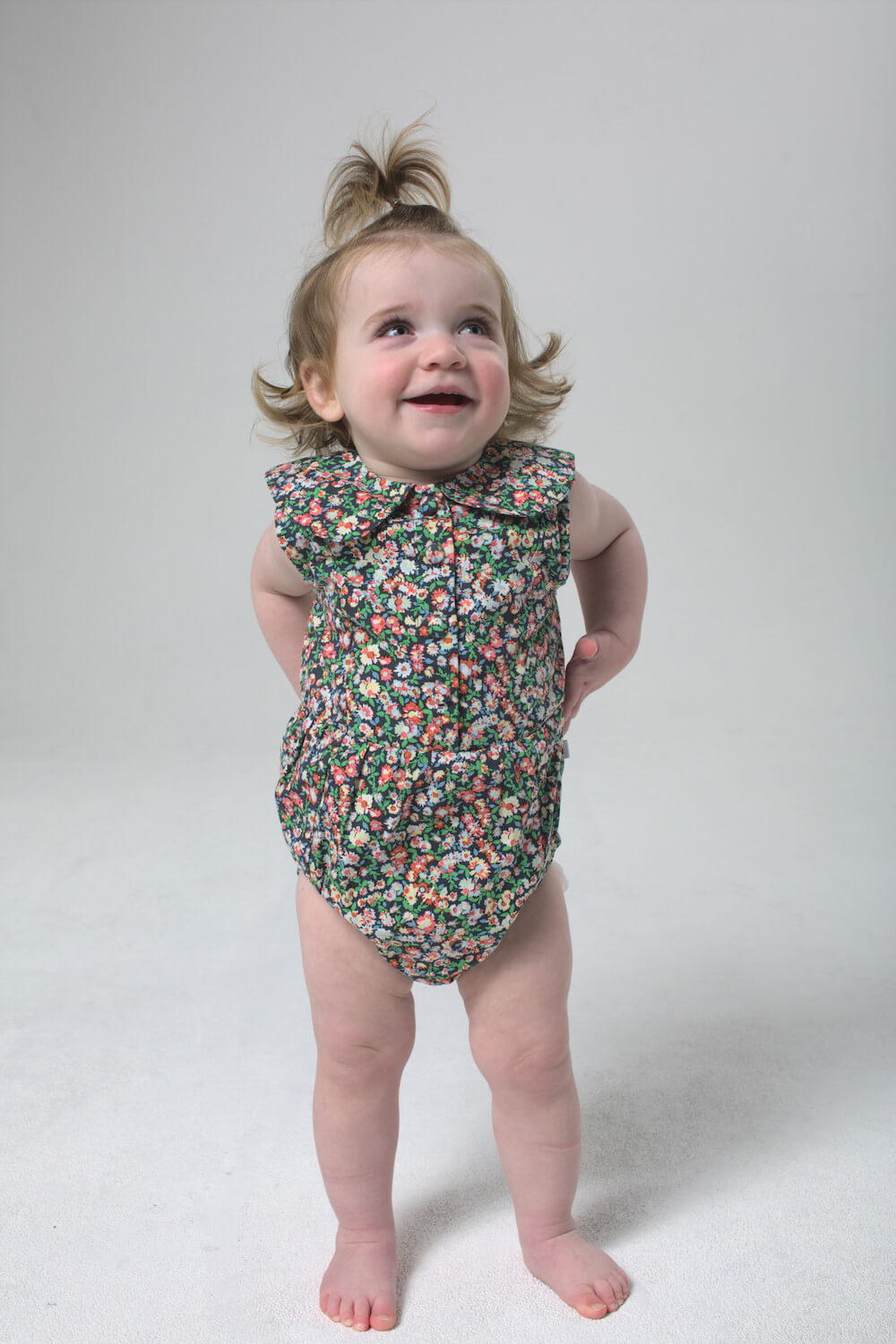 Minouche Evie Playsuit Mimosa Floral | Tiny People