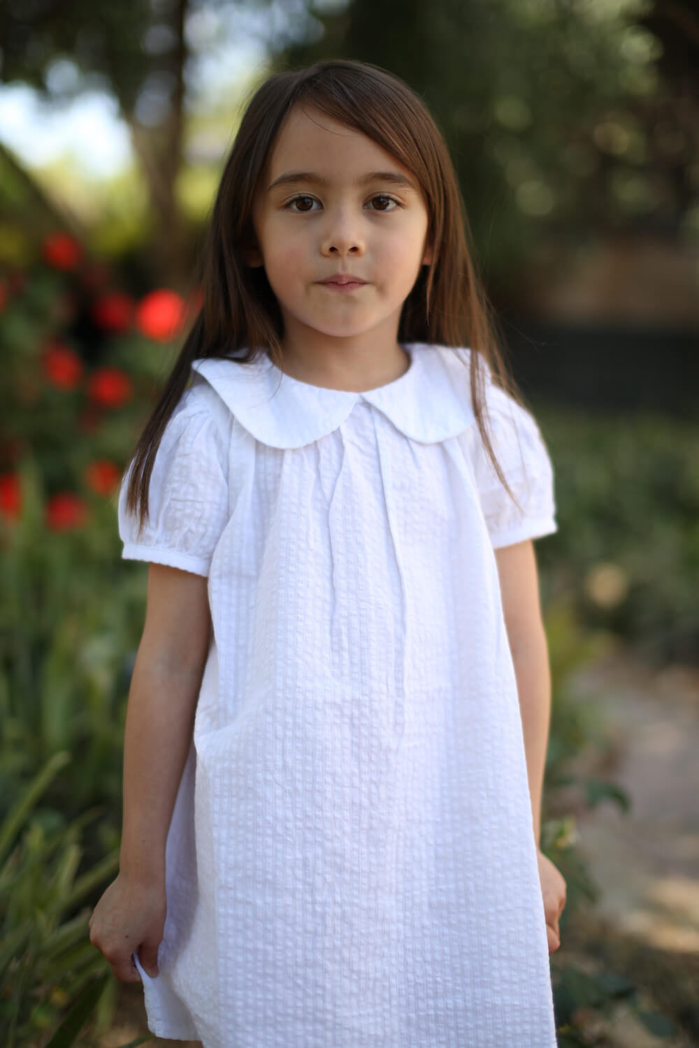 Minouche Magnolia Dress White | Tiny People