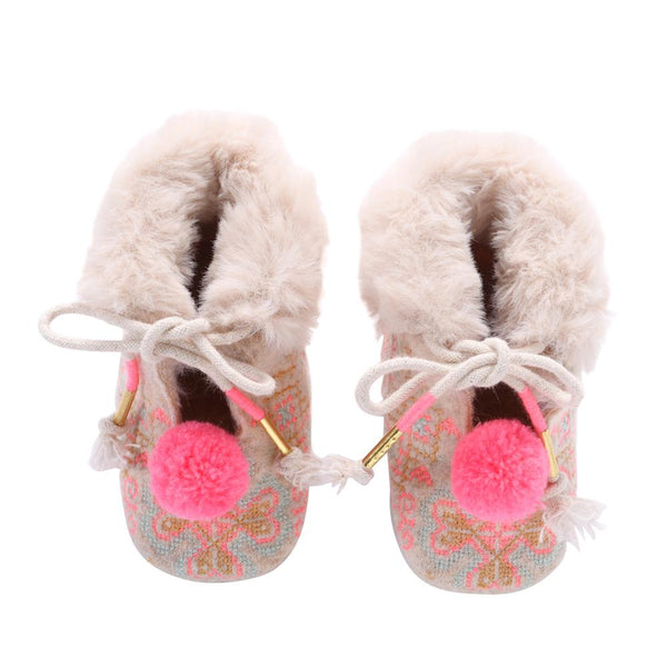 Louise Misha Minorka Slippers Cream - Tiny People Cool Kids Clothes Byron Bay