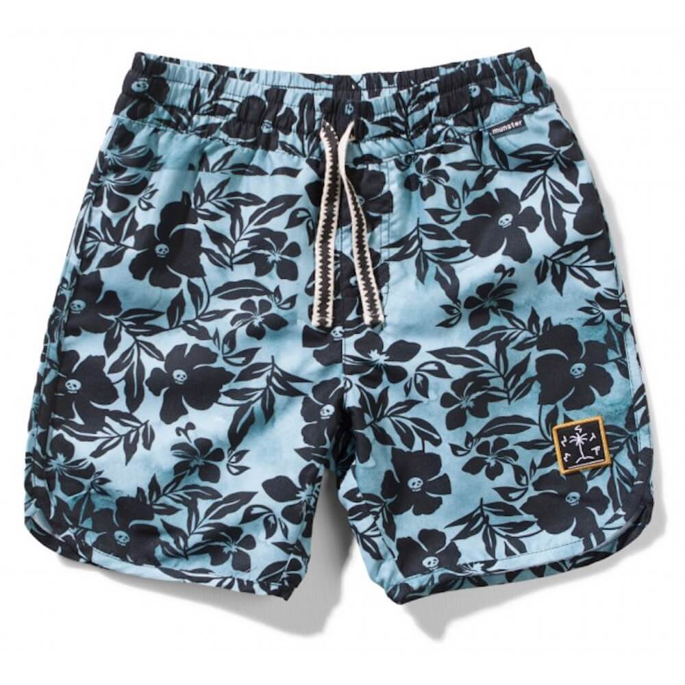 Skull Biscus Blue Board Shorts