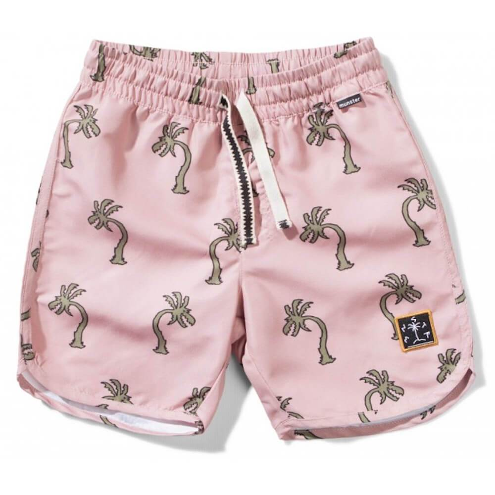 Munster Palm Attack Pink Board Shorts | Tiny People