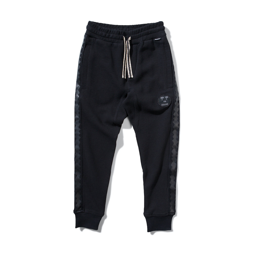 Munster Waffle 2 Pant Black | Tiny People