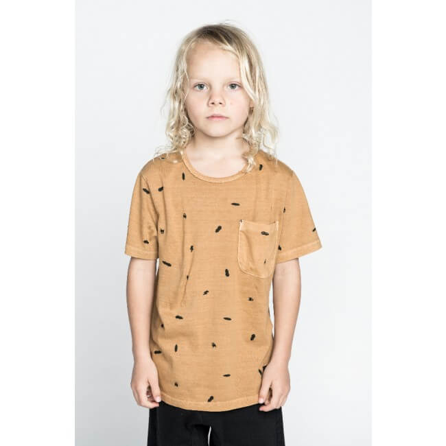 Munster Quiver Wash Mustard T-Shirt | Tiny People