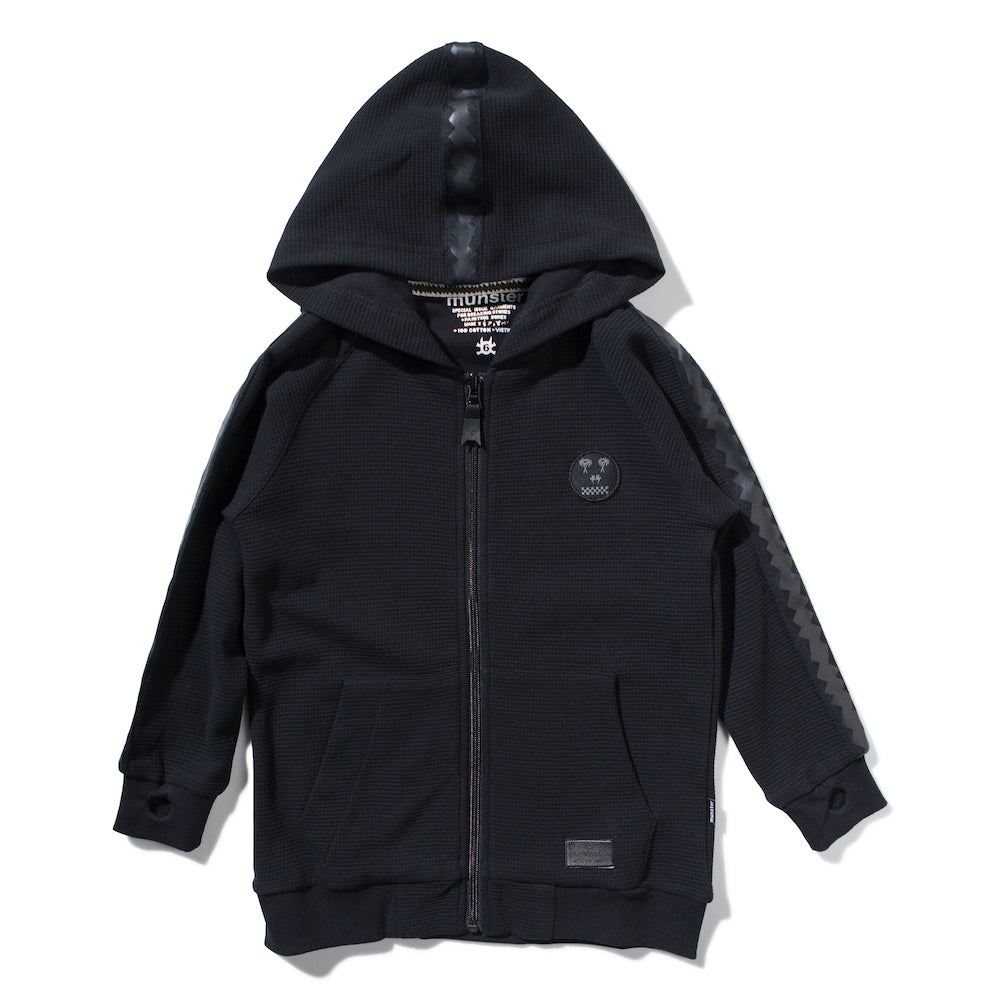 Munster Thrasher Therm Zip Hoodie Black | Tiny People