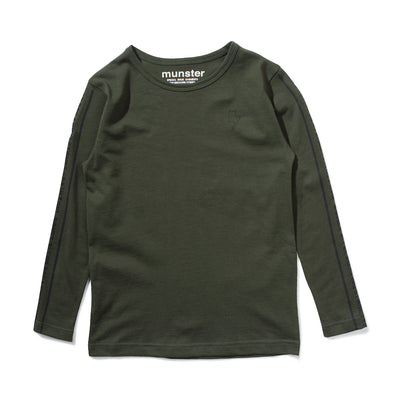 Munster Painting Bones LS Tee Forest | Tiny People