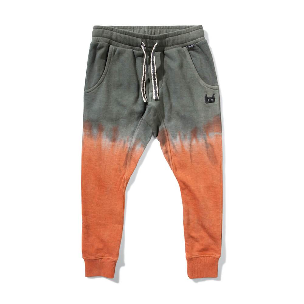 Munster Upside Trackpant Olive / Rust | Tiny People