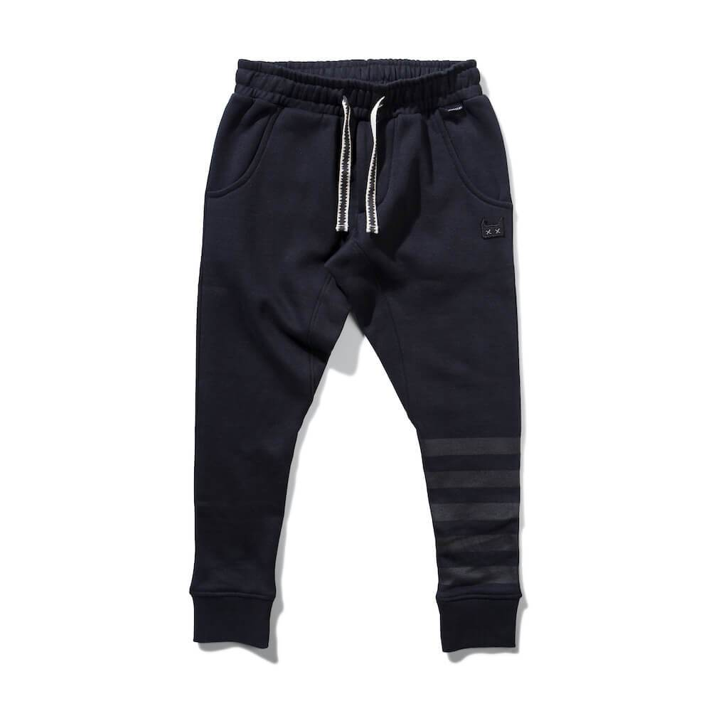 Munster PKT Grin Trackpant Black | Tiny People