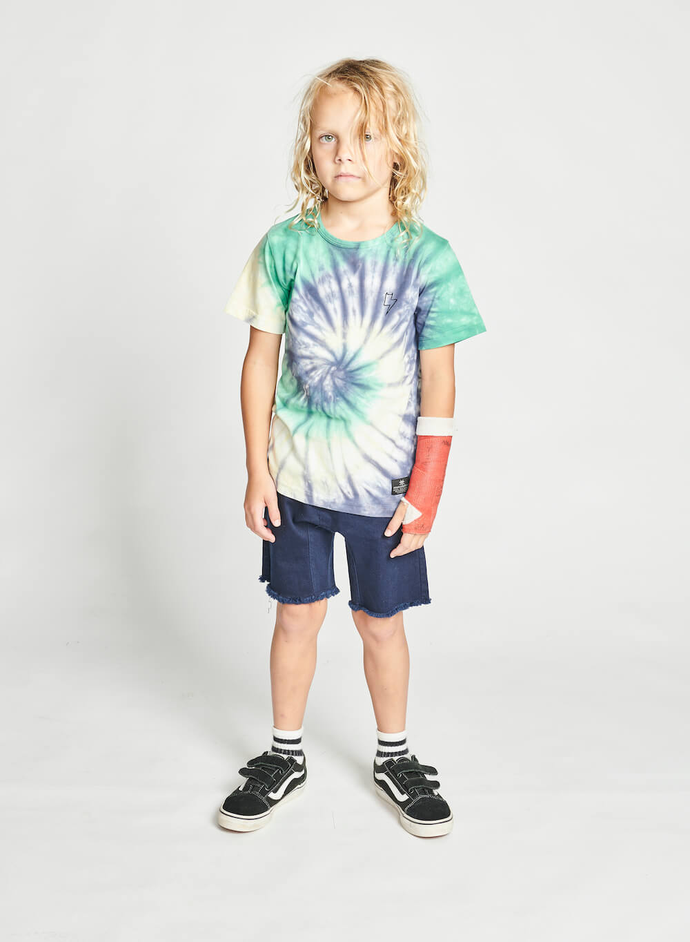 Munster Alley Tee Green Dye | Tiny People