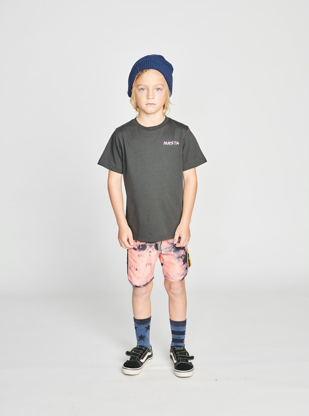Munster Blackout Boardshort Pink Dye | Tiny People Shop