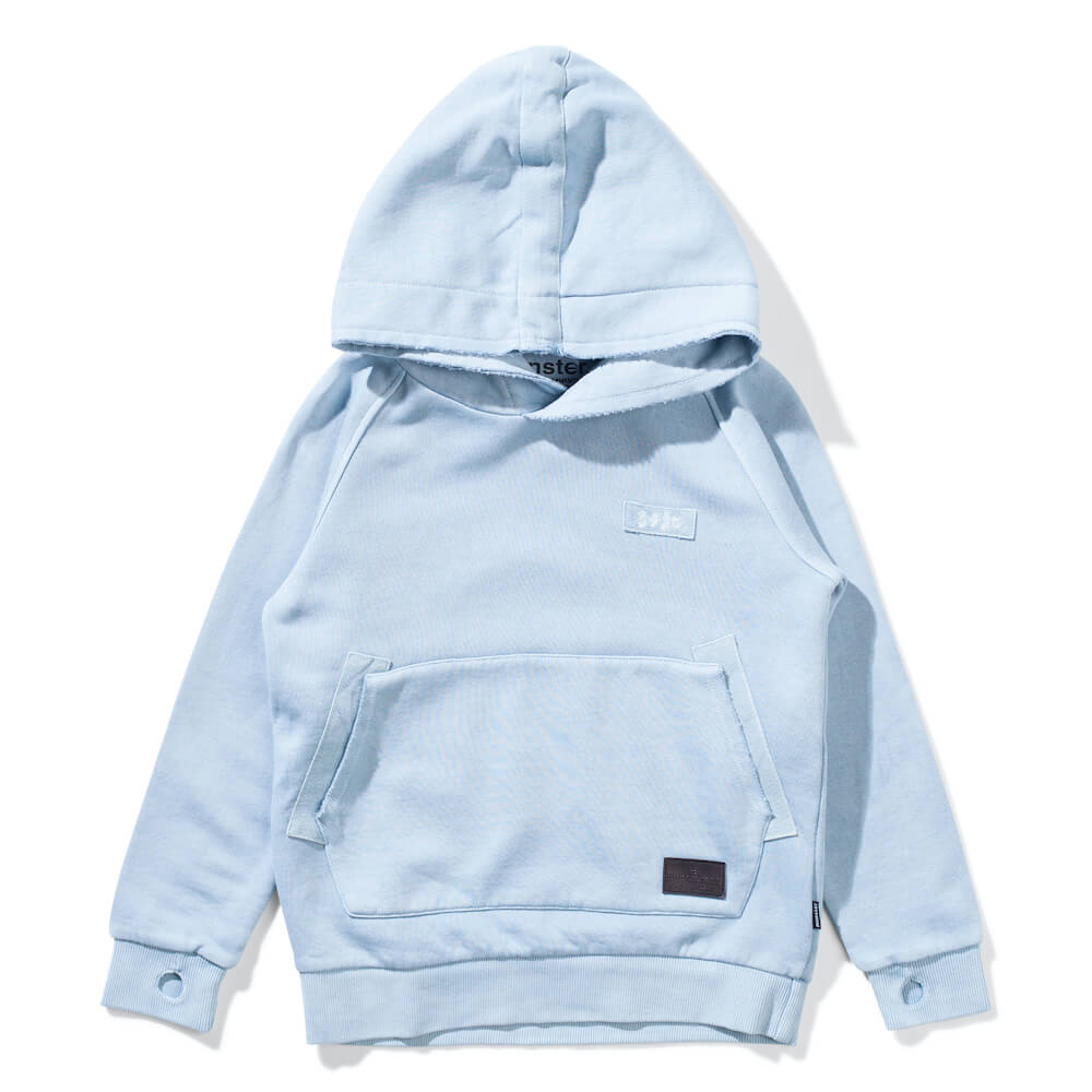 Munster Kids Gaffer Hoody Pigment Mid Blue | Tiny People Australia