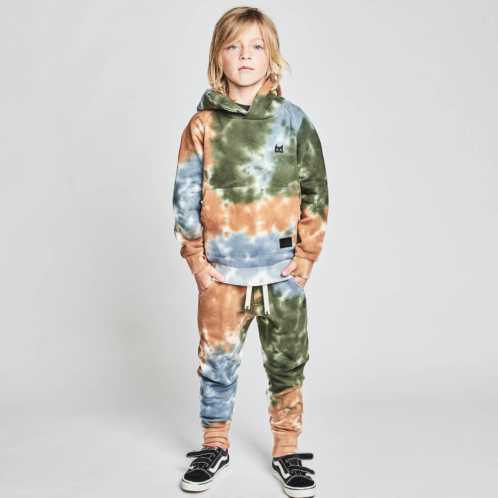 Munster Triple Scoop Track Pant Olive / Tan Dye | Tiny People Australia Online