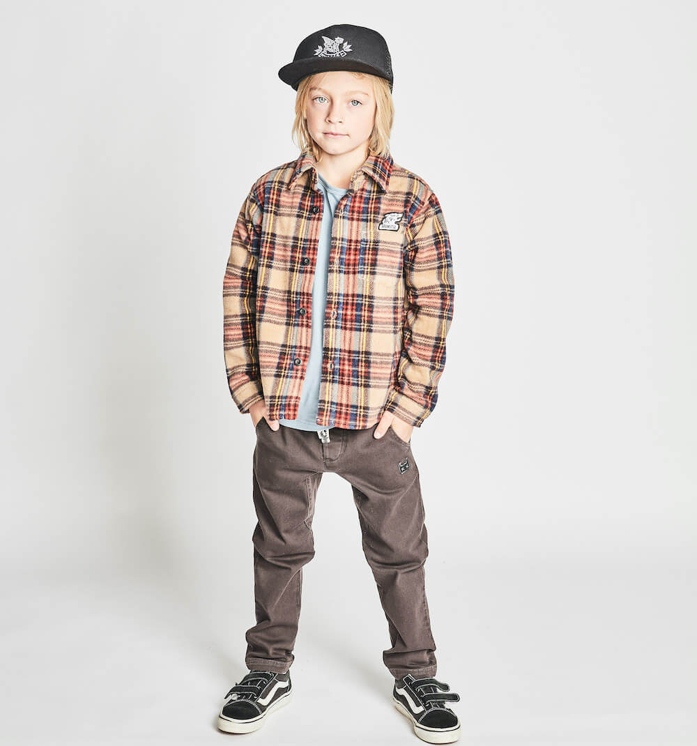 Munster Kids Kasual Pant Washed Black | Tiny People Australia Online