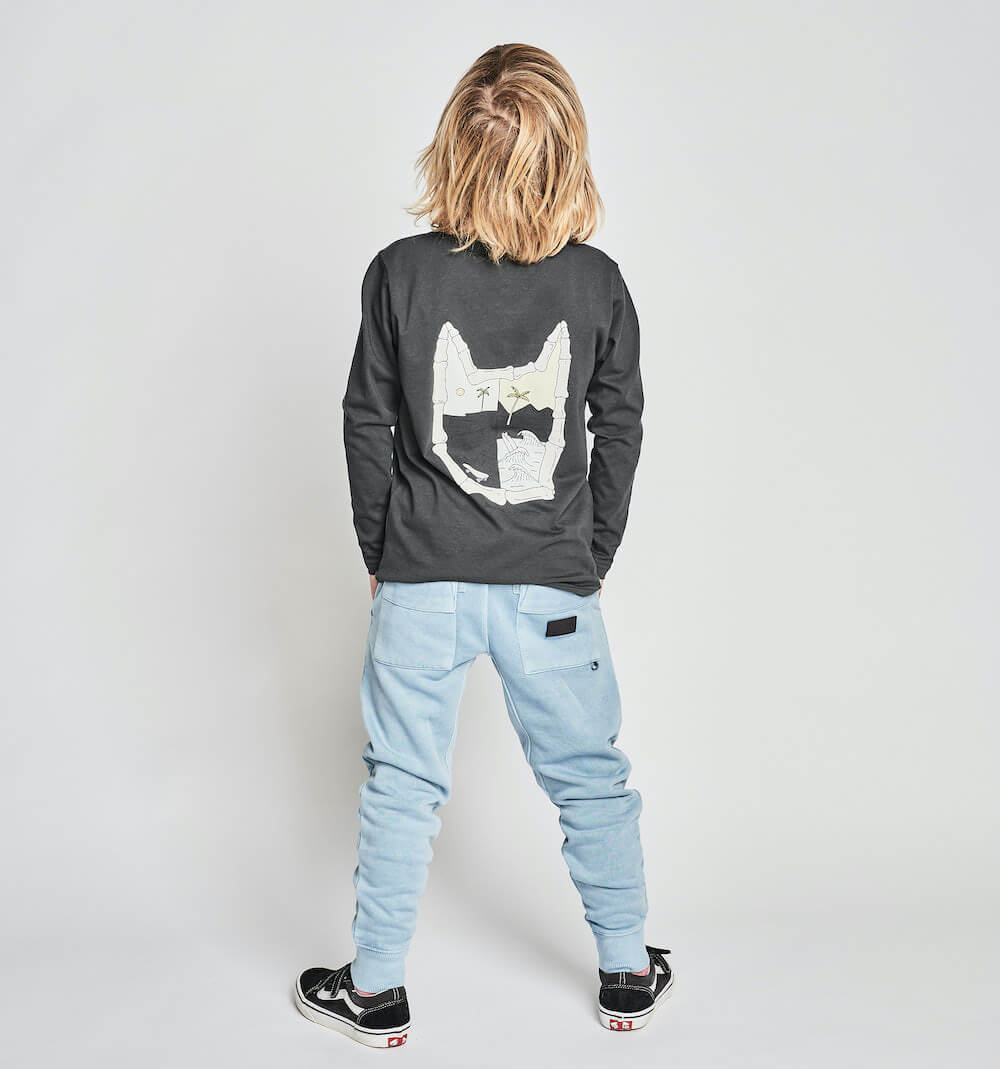 Munster Halfday LS Tee Soft Black | Tiny People Online Australia