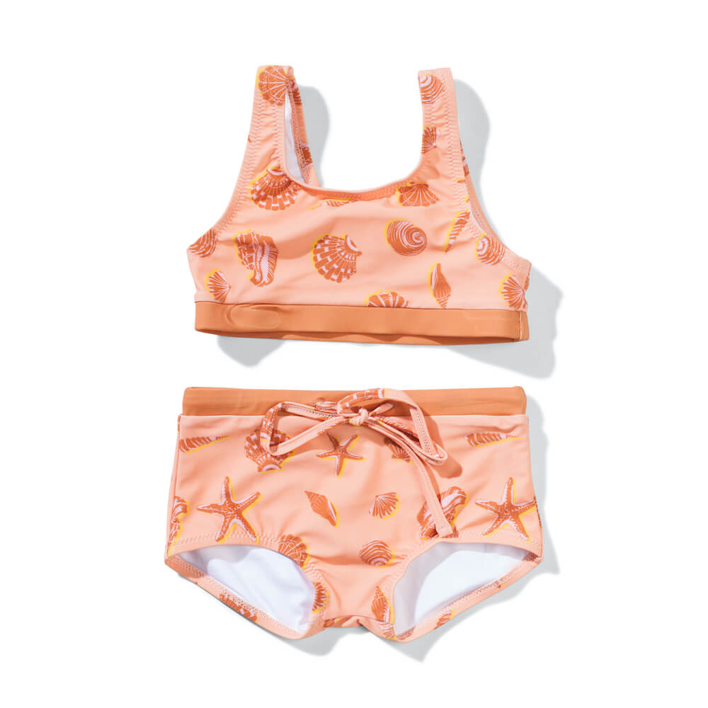 Missie Munster Cabarita Bikini Orange Shells | Tiny People