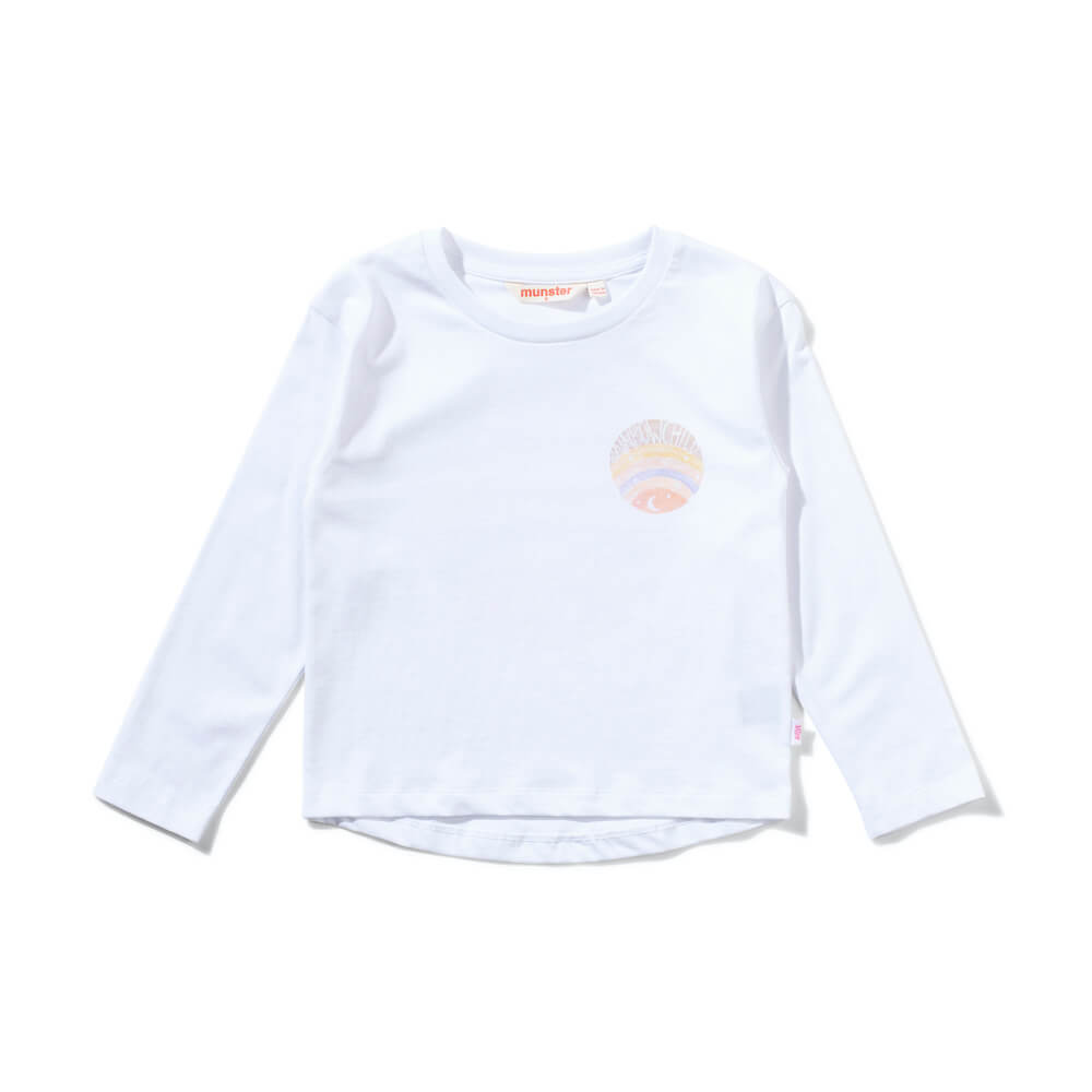 Rainbow Child LS Tee White