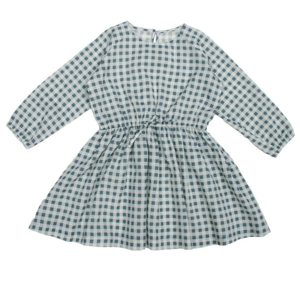 June Kids Mapple Dress Blue Gingham - Tiny People Cool Kids Clothes Byron Bay