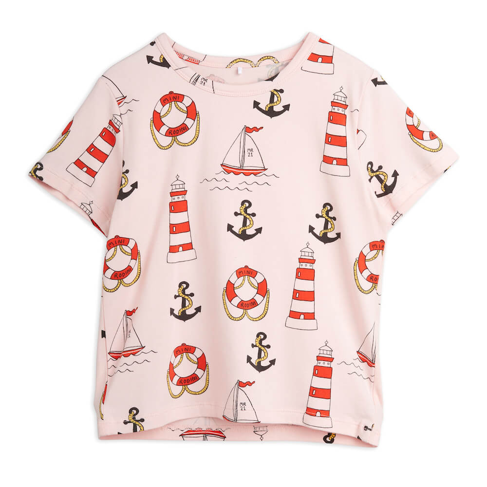 Mini Rodini Lighthouse S/S Tee | Tiny People