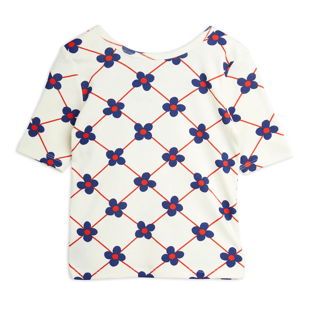 Mini Rodini Flower Check Ballet Tee | Tiny People