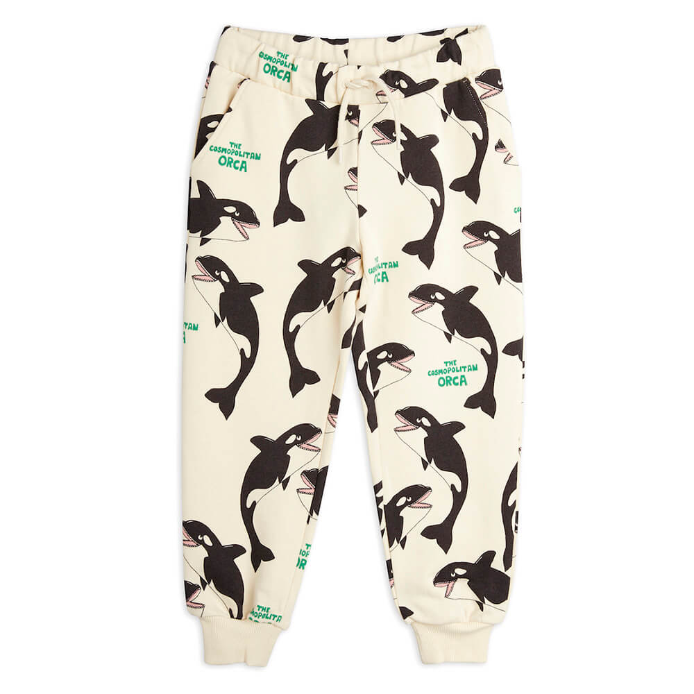 Mini Rodini Orca aop Sweatpants | Tiny People