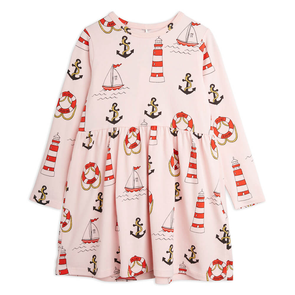 Mini Rodini Lighthouse L/S Dress | Tiny People
