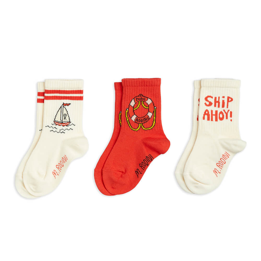 Mini Rodini Float 3-Pack Socks | Tiny People Australia