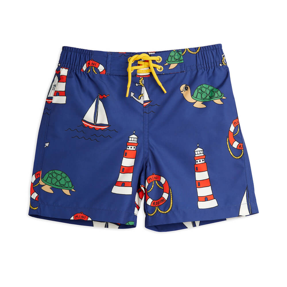 Mini Rodini Turtle Float Swim Shorts | Tiny People