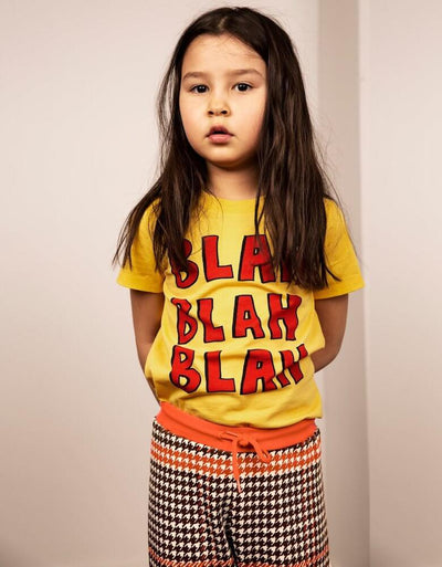 Mini Rodini Blah Yellow SS Tee | Tiny People