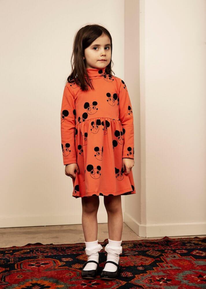 Mini Rodini Ritzratz Turtleneck Dress | Tiny People