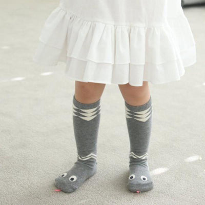 Mini Dressing Snake Knee High Socks - Grey - Tiny People Cool Kids Clothes Byron Bay