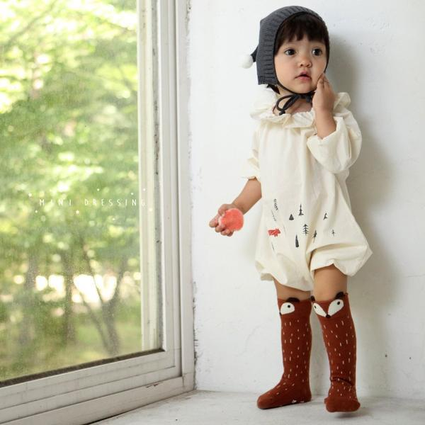 Mini Dressing Raccoon Knee High Socks - Brown - Tiny People Cool Kids Clothes Byron Bay