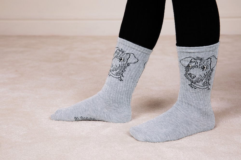 Mini Rodini Terrier Socks (Grey) | Tiny People