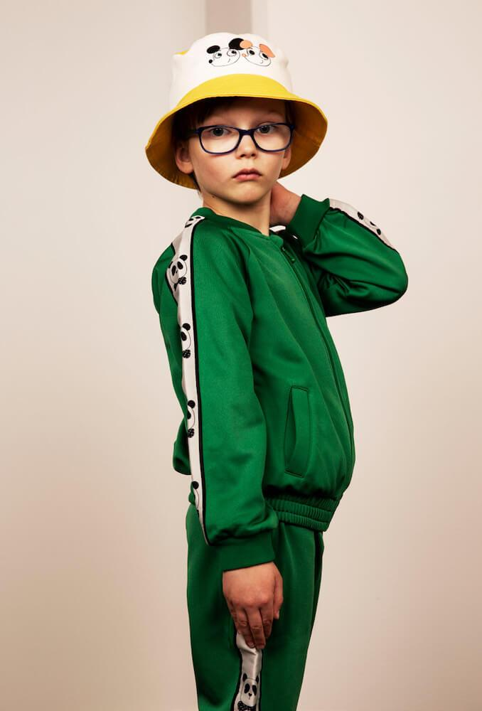 Mini Rodini Panda Green Sport Jacket | Tiny People