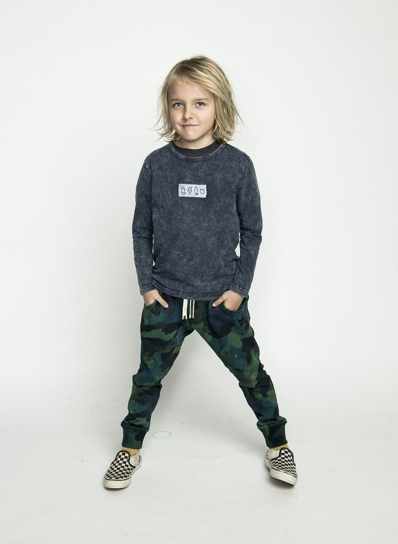 Munster 4 Life LS Tee Denim | Tiny People
