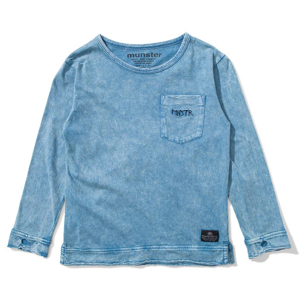 Munster Kids MNSTR Tee Acid Blue - Tiny People Cool Kids Clothes Byron Bay