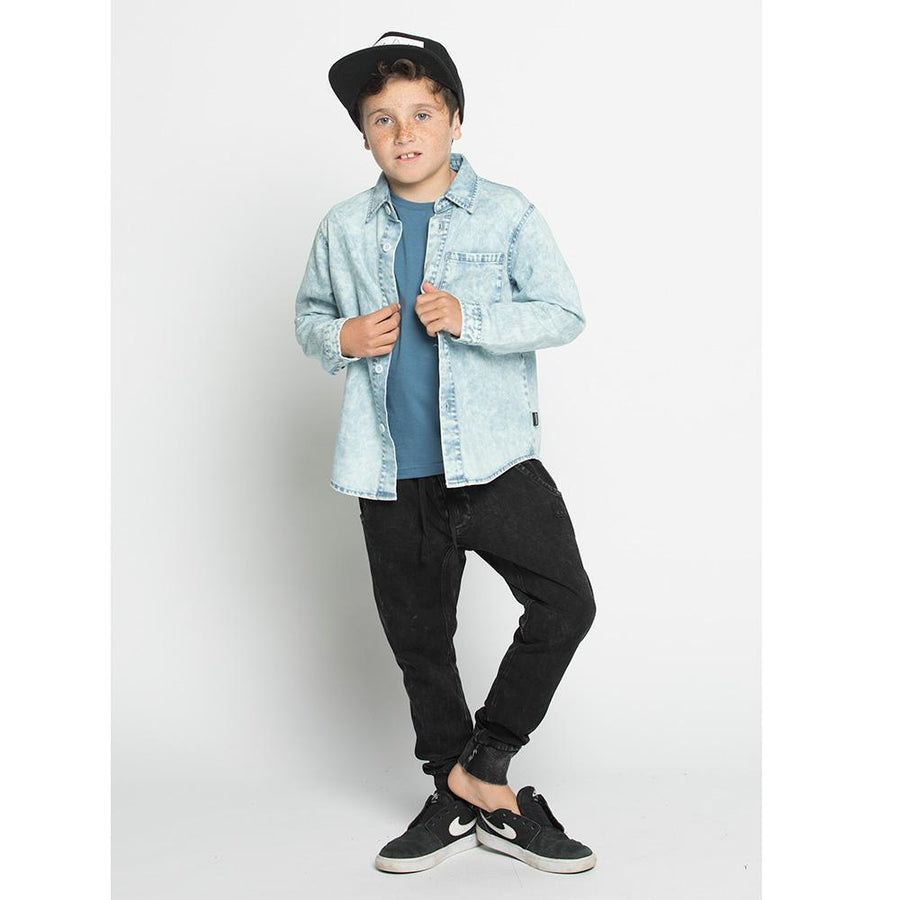 Munster Kids Raker Denim Shirt - Tiny People Cool Kids Clothes Byron Bay