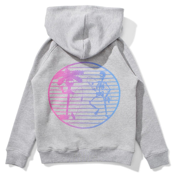 Munster Kids Skeletor Fleece Hoody Grey Marle - Tiny People Cool Kids Clothes Byron Bay