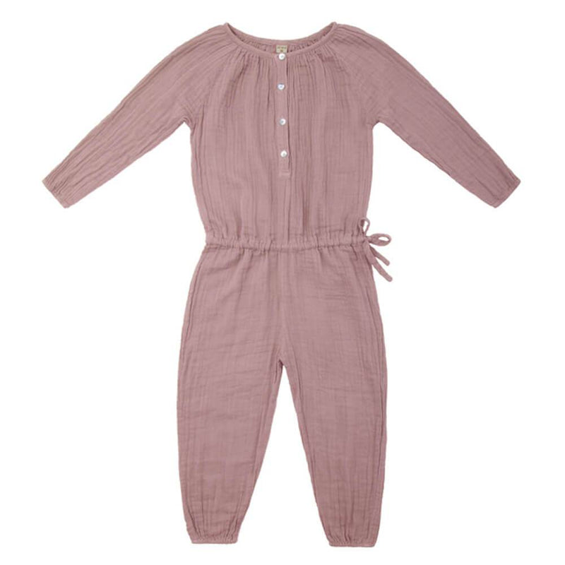 Numero 74 Naia Jumpsuit Dusty Pink Girls Jumpsuits - Tiny People Cool Kids Clothes