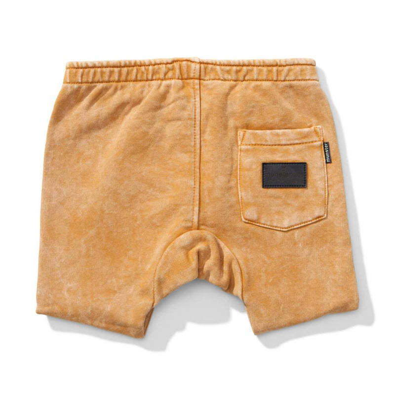 Next Time Washed Mustard Track Shorts