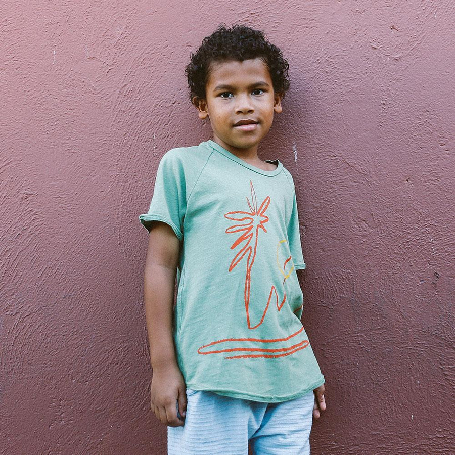 Nico Nico Dunes Raglan Cactus - Tiny People Cool Kids Clothes Byron Bay