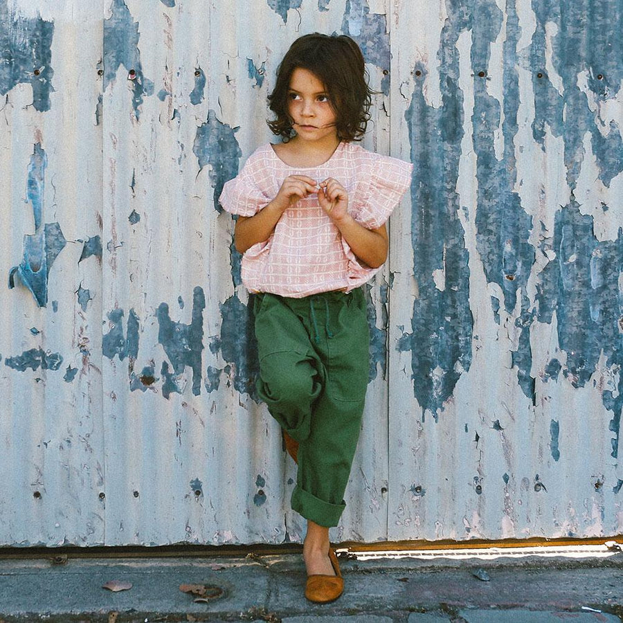 Nico Nico Vernon Linen Army Pant Cactus - Tiny People Cool Kids Clothes Byron Bay