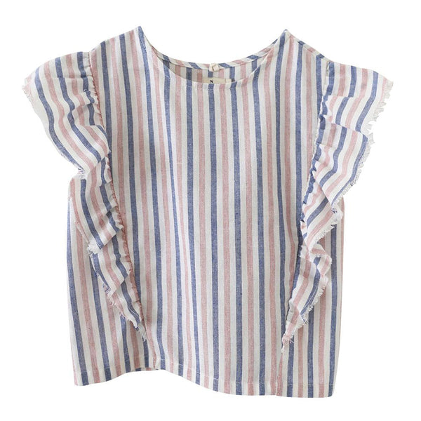 Nico Nico Mckinley Lines Ruffle Top - Tiny People Cool Kids Clothes Byron Bay